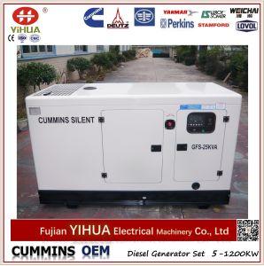 Cummins Generator, 20kw/25kVA Cummins and Stamford Super Silent Diesel Generator pictures & photos