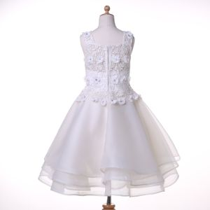 Organza/Chiffon Designer Flower Girl Dress for Wedding and Ceremonial pictures & photos