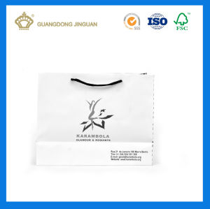 Luxury White Matt Printed Paper Shopping Bag (With Wide Cotton Handle) pictures & photos