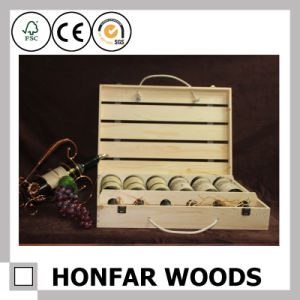 6 Bottles Natural Wooden Wine Box Packaging Box pictures & photos
