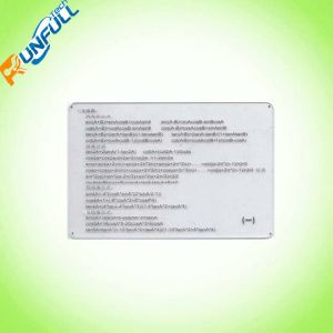 Clear/Transparent Cr80 Size Card with Good Printing and Good Price pictures & photos