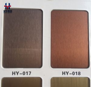 High Quality Titanium Plating Stainless Steel Color Decorative Plate pictures & photos