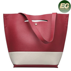 2017 Hot Selling Genuine Leather Lady Tote Bag Cowhide Handbags Emg4791 pictures & photos