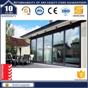 As2047 Soundproof Double Glaze Folding Door with Silicon Sealant pictures & photos