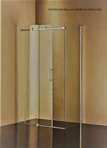 Hr-05-K L-Shape Stainless Steel Roller Sliding Shower Screen pictures & photos