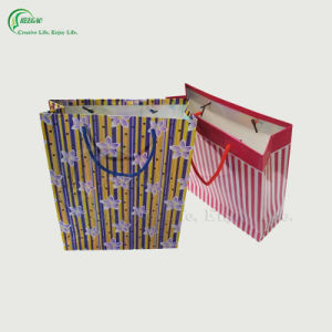 Stripe Shopping Paper Bag (KG-PB023)