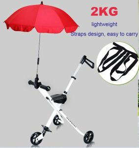 Three Wheel Folded Portable Baby Carriage Kid Tricycle pictures & photos