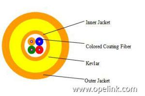 Four Core Miniature LC_LC Fiber Optic Cable pictures & photos