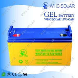 Whc Good Performance Deep Cycle 100ah Gel Solar Battery pictures & photos