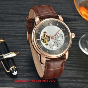 Smart Handsome Automatic Men′s Watches with Genuine Leather Strap Fs659 pictures & photos