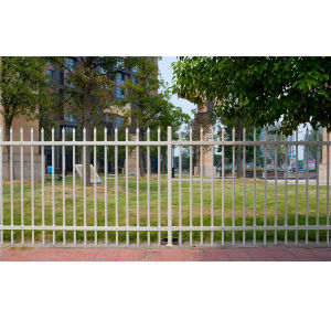 Cheap Simple Residential Security Galvanized Steel Garden Fence pictures & photos