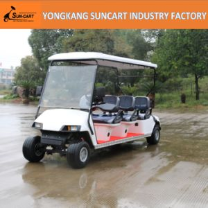 Wholesale Ce Approved Battery Powered 6 Seater Golf Cart, 6 Passanger Electric Golf Cart Black Seater Color pictures & photos