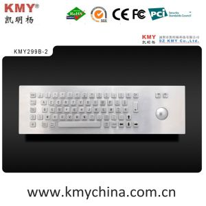 Industrial Metal Computer Keyboard with Trackball (KMY299B-2) pictures & photos
