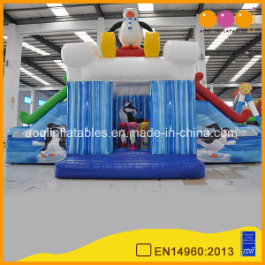 Penguin Inflatable Jumper Amusement Park Fun Sledding Inflatable Combo Bouncer with Double Mini Slide (AQ01441) pictures & photos
