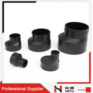 Drainage Plastic PE Pipe Fitting Eccentric Reducer Types pictures & photos