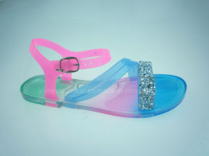 Mult-Colour Clear PVC Girls sandals pictures & photos