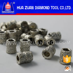 High Efficiency Electroplated Diamond Beads for Electroplated Marble Wire Saw pictures & photos