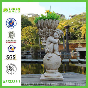 Crafts Gift Polyresin Angel Flower Pot (NF13221-1)