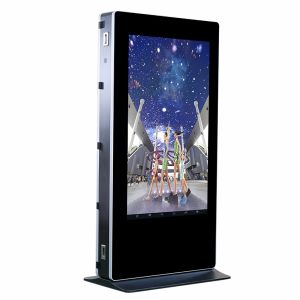 65 Inch Outdoor LCD Digital Signage Floor Stand Touch Screen Kiosk pictures & photos