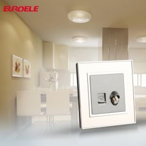 86*86 PC White 1gang Tel Socket pictures & photos