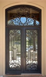 Good Cheap Arch Top Double Wrought Iron Safety Door Design & China Good Cheap Arch Top Double Wrought Iron Safety Door Design ... pezcame.com