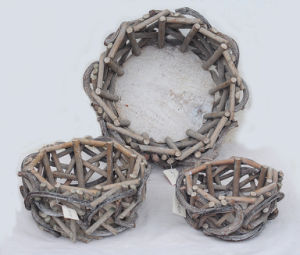 Natural Rattan Basket for Gardening pictures & photos