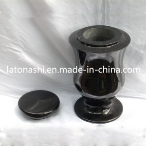 Shanxi Black Granite Vase, Stone Cremation Ash Urns for Cemetery pictures & photos