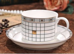 Classic Porcelain Coffee Cups with Saucer
