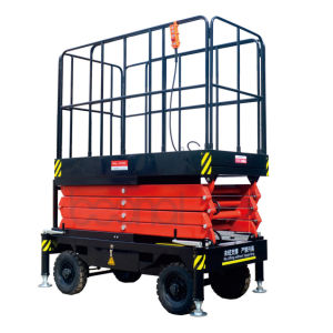 Mobile Scissor Lift (economy) (Max Platform Height 12(m)) pictures & photos