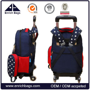 Child Wheeled Travelling Bag Kids Rolling School Bag with Wheels pictures & photos