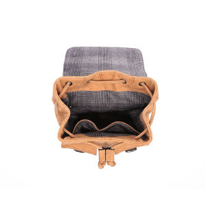 Casual Drawstring Buckle Fashion PU Women Backpack Handbag (MBNO043026) pictures & photos