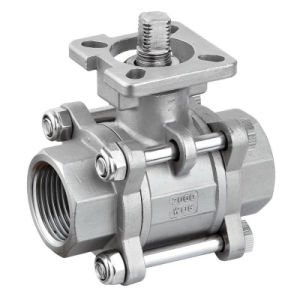 ISO-Direct Mounting Pad 2000wog 3PC Ball Valve