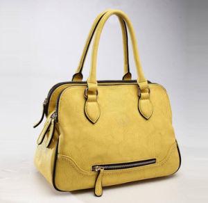 Fashion Yellow Color Lady Handbag pictures & photos