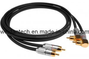 Premium 15 Ft 2RCA Stereo Audio Link Cable for DVD (WD15E-003) pictures & photos