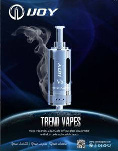 Ijoy-V8, 2014 Newest Unique Ceramic Seat Design Bdc Airflow Adjustable Clearomizer