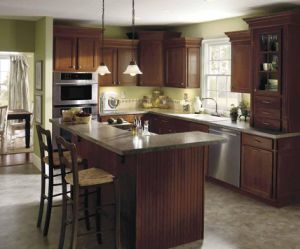 Island Style Solid Wood Kitchen Cabinet