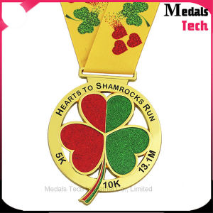 Customized Gold Plated Glitter Soft Enamel Running Sports Metal Medals pictures & photos