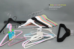 Factory Plastic / Flocked Custom Cloth/Clothes Hanger Hangers for Jeans, pictures & photos