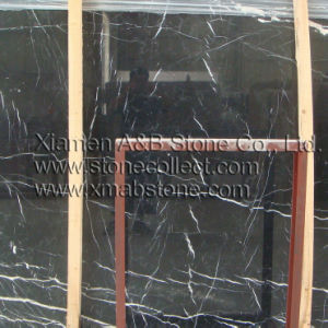 Chinese Nero Marquina Marble Big Slabs in Polished Surface pictures & photos