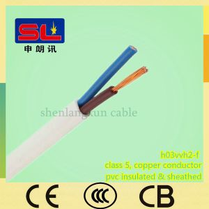 H03vvh2-F 2X0.75 PVC Sheathed Electric Wire