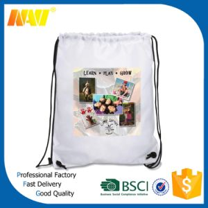 Full Color Printing Sublimation Polester Nylon Drawstring Backpack Bag pictures & photos