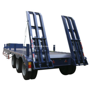 Low Bed Semi Trailer 3 Axles 80tons for Sale pictures & photos