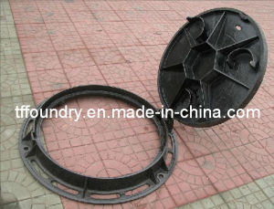 Heavy Duty Circular Cast Iron Manhole Cover for Sewerage pictures & photos