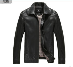 2015 Newest Fashion Man Winter Leather Jacket pictures & photos