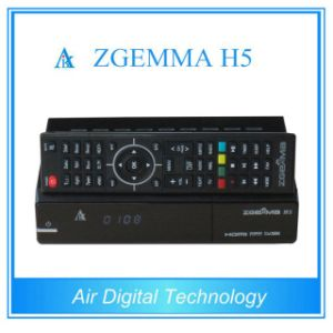 High-Tech Version Zgemma H5 HDTV Receiver Fatest CPU Dual Core Hevc/H. 265 DVB-S2+T/C Two Tuners pictures & photos