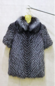 Fashion Silver Fox Vest & High Quality Silver Fox Fur Vest pictures & photos