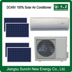 Wall Mounted Split DC48V 100% Total Solar Air Conditioners Panel pictures & photos