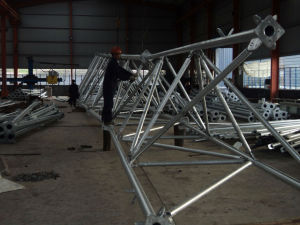Hot DIP Galvanization Telecom Three Leg Pipe Antenna Tower pictures & photos