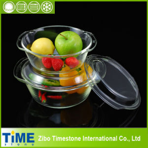 High Quality Borosilicate Glass Casserole Set (TM8011) pictures & photos