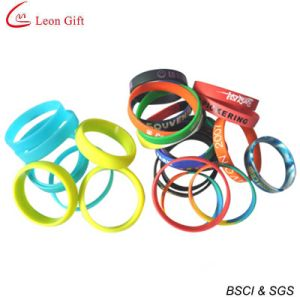 Cheap Custom Silicone Wristband Enamel Silicone Bracelet (LM1628) pictures & photos